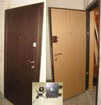 Метална фурнирована врата с каса по зида-модел К4 - 950 лв.